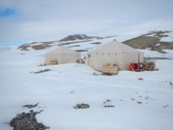 Winterised camp at start of season in 2013.