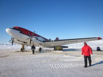 Getting skis on the Basler DC3